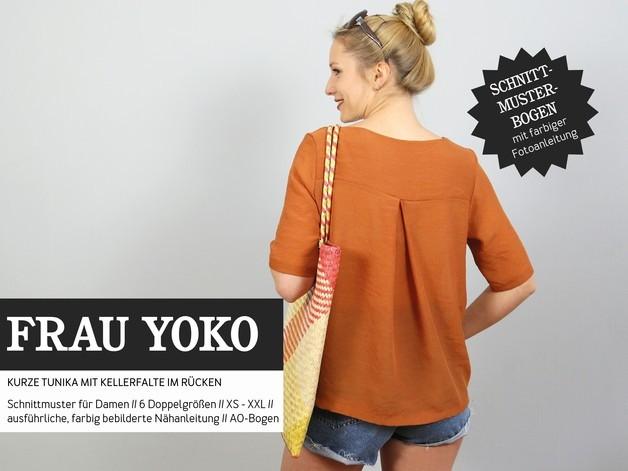 Schnittmuster Tunika mit Kellerfalte - Meine Stoffkiste - FRAU YOKO