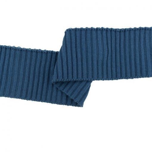 Fertigbündchen Cuff Grobstrick Uni Jeansblau