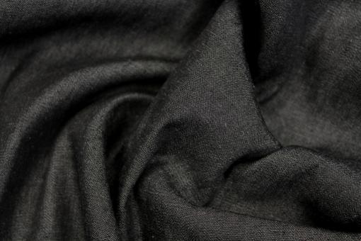 Jeansstoff washed leicht Uni Anthrazit