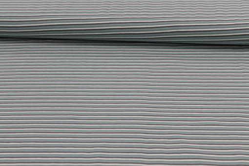 Baumwolljersey Streifen Mint/Grau